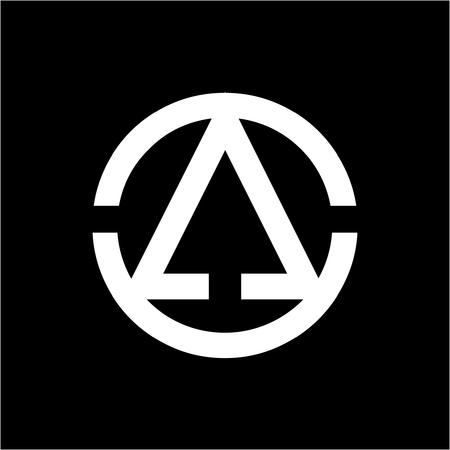 AO, OA, CCA, AOCC initiales logo géométrique de l'entreprise Logo