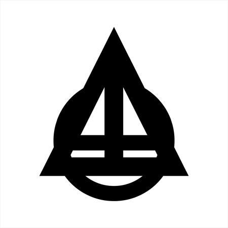 ATO, OTA, TAO initials geometric company logo