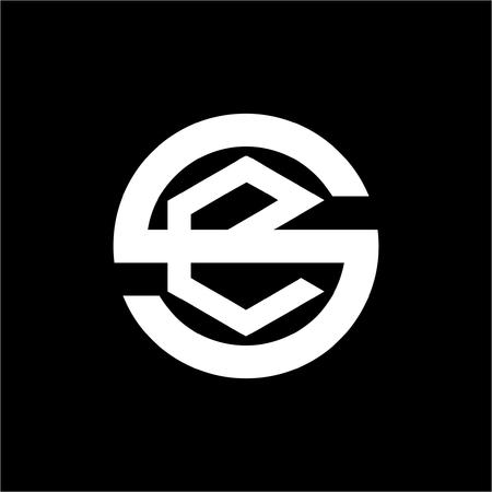 line art se, es, seg initials simple geometric company logo Logó