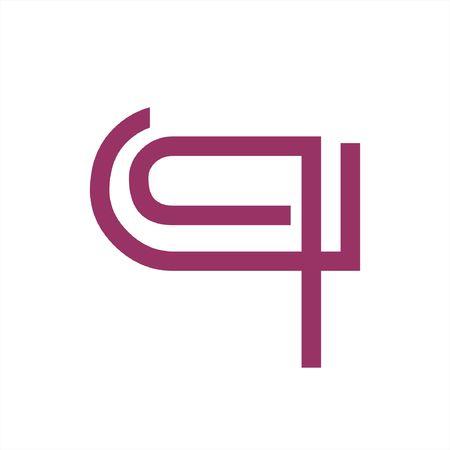 simple q, qc, qu initials line art geometric company logo