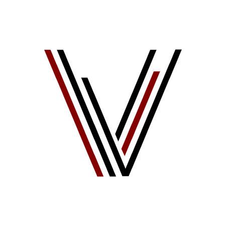 simple VV, VL, VI, VVV, VII, VLL initials line art geometric company logo