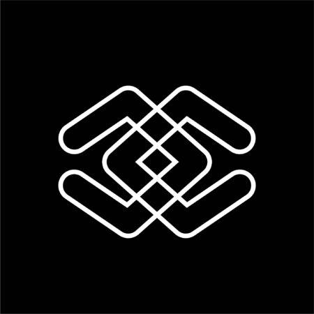 simple cc, dd initials line art logo