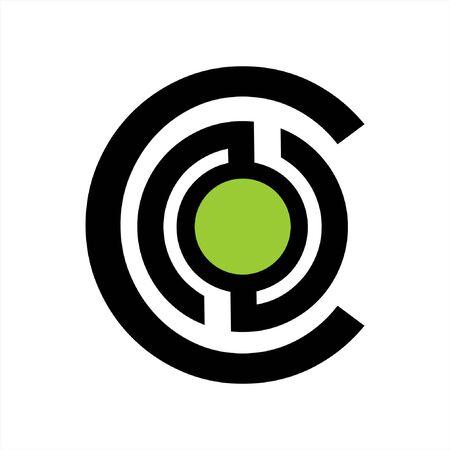 simple CNO, CSO, CN, CS, CO initials company logo