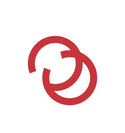 simple COCO, CUC, CCCC initials circle shape logo