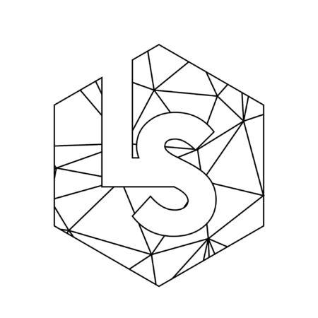 simple LS initials triangle chain logo Logó