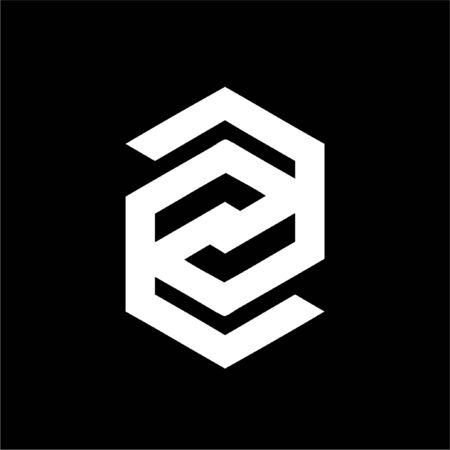 simple Z, EZG, CG, EG, GG, GSG, CSG initials company vector logo and icon