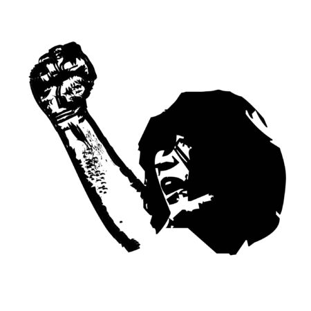 retro man rocker sketch illustration and logo vector Illusztráció
