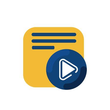 simple memo and pen button application icon and logo vector