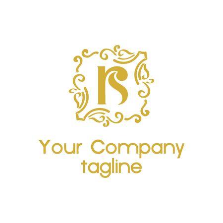 r, rs ornamental vintage vector logo Logó
