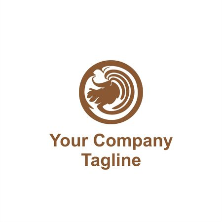 coffee art mix vector logo and icon  イラスト・ベクター素材