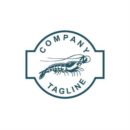 sea food shrimp fish restaurant logo and vector illustration