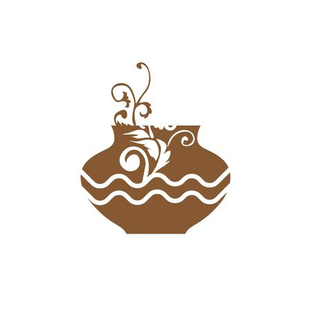 artistic pottery art vector logo and icon Logo