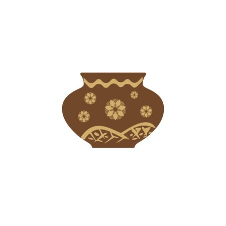 simple artistic pottery art vector logo and icon