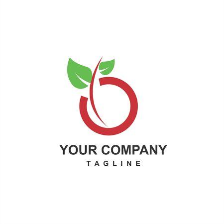 organic food farm for health and fresh body company logo and icon