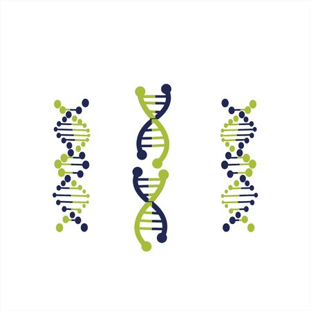 DNA helix biotechnology gene chromosome logo and vector icon