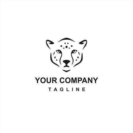 cheetah or lion head vector company logo and icon