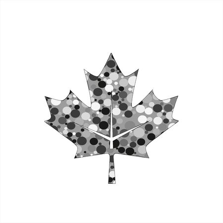 leaf grey black autumn company logo and icon Stock Illustratie