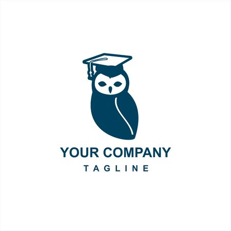 blue owl education logo and vector icon