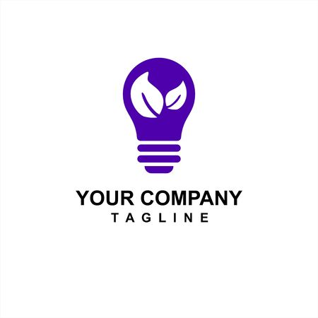 bulb environmental and save energy idea for company logo and icon