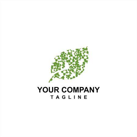 logo della cella a foglia verde e icona vettoriale