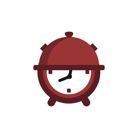 food time clock shape logo and icon for restaurant or food company Ilustrace
