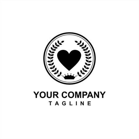 circle vintage ornamental love romantic logo and vector icon Vectores