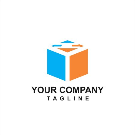 U box drive initials company vector logo and icon