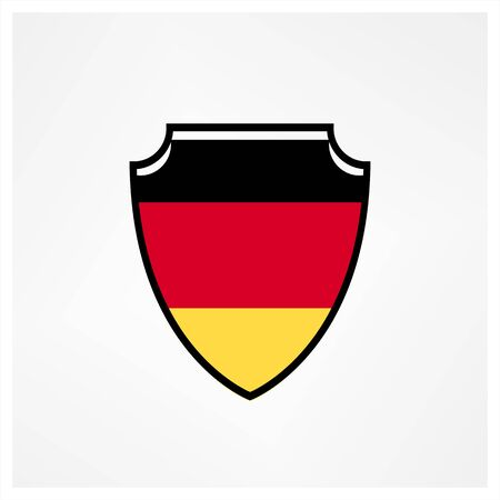Shield flag of German logo and icon