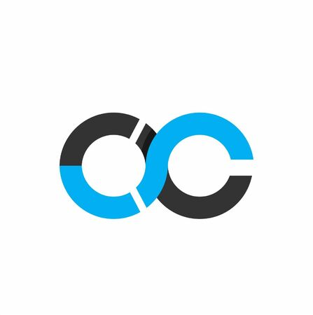 OC initials circle geometric company logo and vector icon
