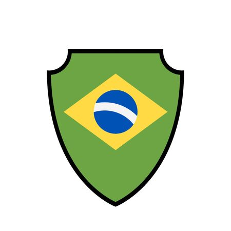 Shield flag of Brazil vector logo and icon