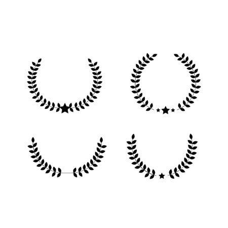 set leaf vintage decoration logo and icon 일러스트