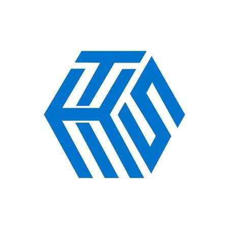 THS, TKS, SKT, HTS, KTS initials geometric cubic letter model logo and vector icon
