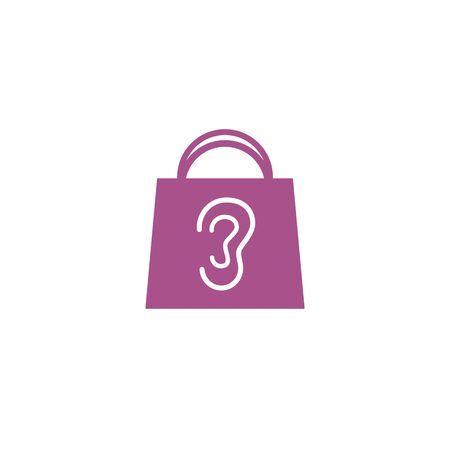 bag of ear sales market academy logo and vector icon Vectores