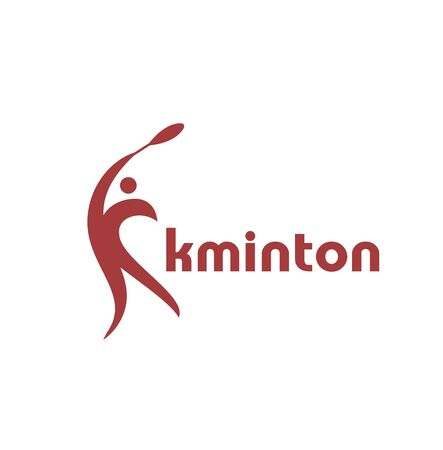 simple badminton or tennis team competition logo and vector icon