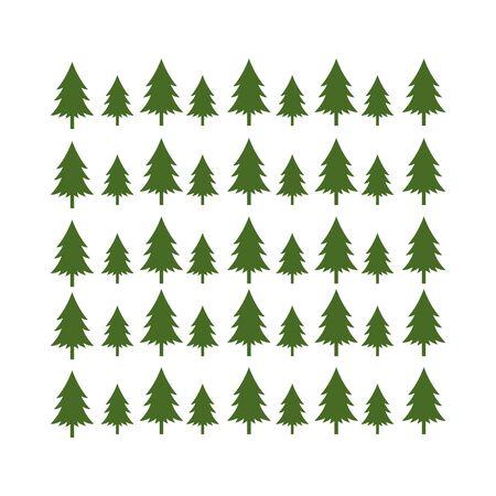 green timberland pine tree branch christmas background illustration Illustration