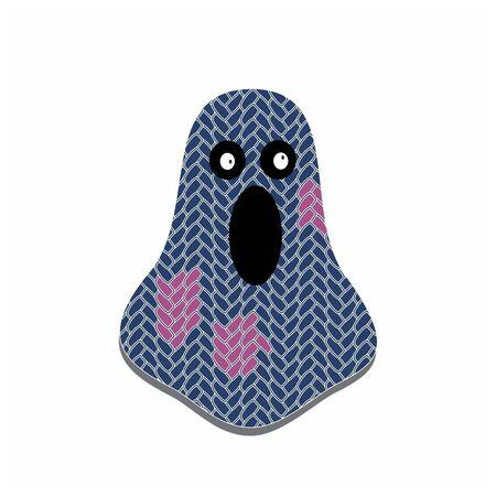 funny ghost party costume vector illustration Иллюстрация