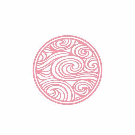 e, es, s circle wind twirl elegant logo and vector icon