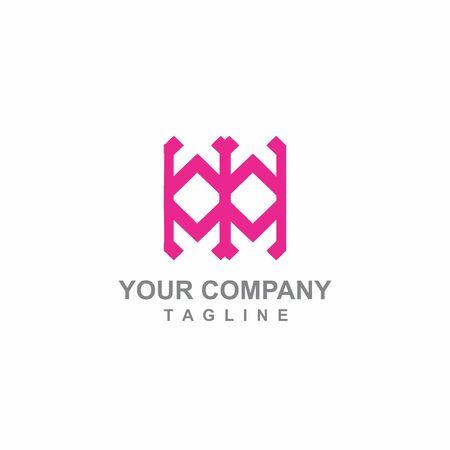 MW. WM, MTW, WTM, MIW, WIM initials geometric logo and vector icon