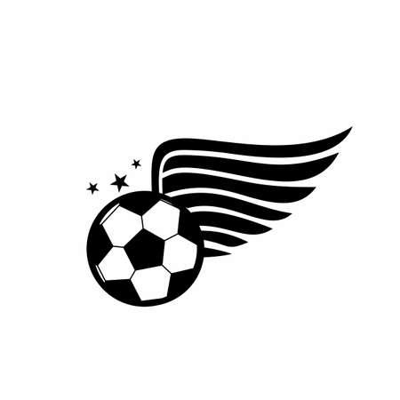 football team, soccer competition, and ball logo and vector icon Иллюстрация