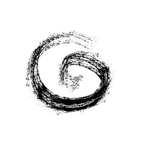 G initials grudge ink art logo and vector icon Иллюстрация
