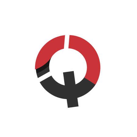 Q, CQ, QC, IQ initials modern technology logo and vector icon
