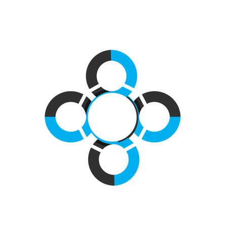 OOOO, CCCC, OCCCC initials modern technology logo and vector icon Иллюстрация