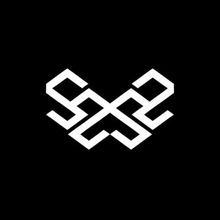 sz, ss, zs, zz, swz, smz, sms, zmz initials geometrical logo and vector icon