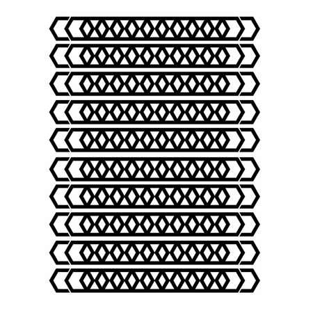 cubic sword batik ornamental line art geometrical pattern for background and wallpaper