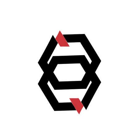 QQ, GG, GE, aa, JN, initials geometric  and vector icon