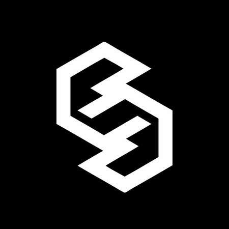 S, eG, eSG, GG, ee, GSG initials geometric  and vector icon Ilustração