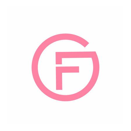 GF, FG, OGF, GFO, OF initials geometric logo and vector icon 矢量图像