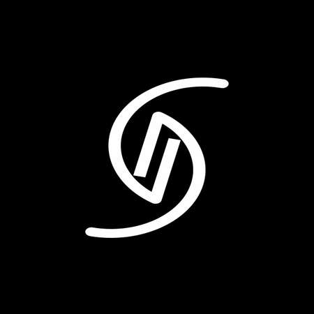 S, GG, GNG, GSG, SGG, SGE, GS, GSE initials geometric logo and vector icon