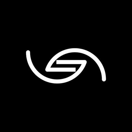 GG, GNG, GSG, SGG, SGE, S, GS, GSE initials geometric logo and vector icon 矢量图像