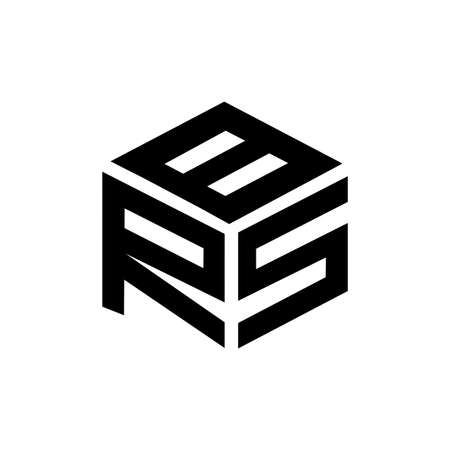 RSB, BRS, SRB, RS, BSR initials geometric line art logo and vector icon 矢量图像